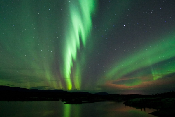 Northern Lights above Lewes Lake