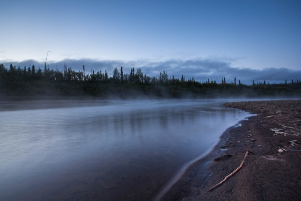 Midnight on the Eagle River