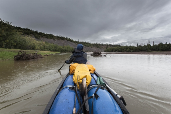 Paddling the Eagle River in the rain