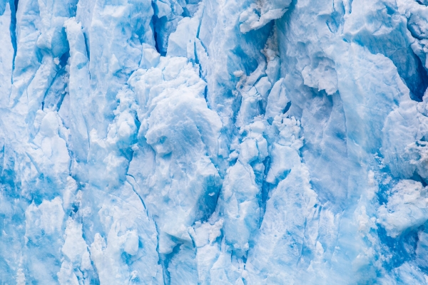 Close-up on the front of Sawyer Glacier