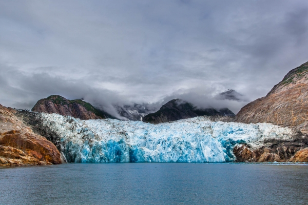 Dramatic view on the Sawyer Glacier