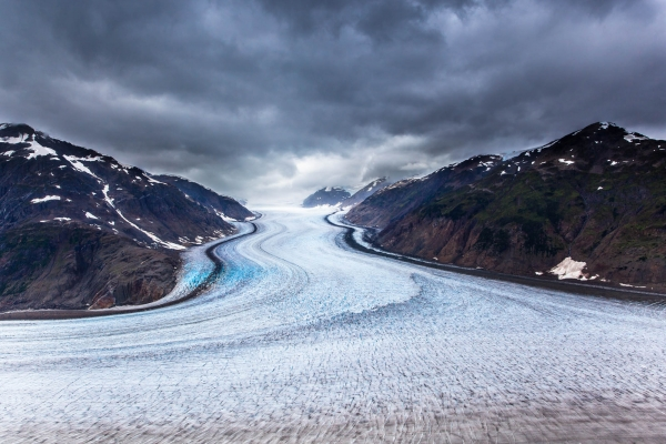 Dramatic view on Salmon Glacier (British Columbia, Canada)