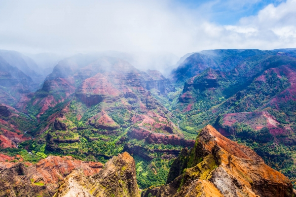 Waimea Canyon on Kauai Island (Hawaii, USA)