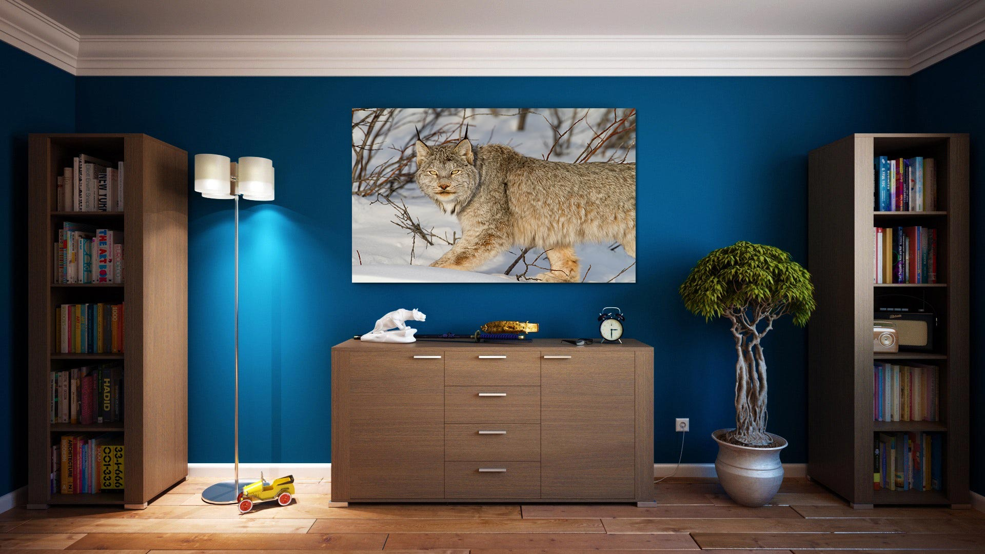 Print preview in living room